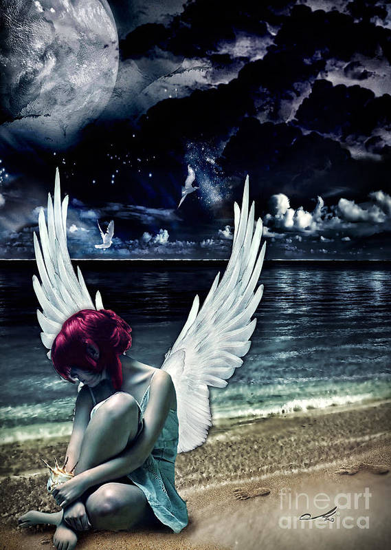 Silence Of An Angel Poster featuring the photograph Silence Of An Angel by Mo T