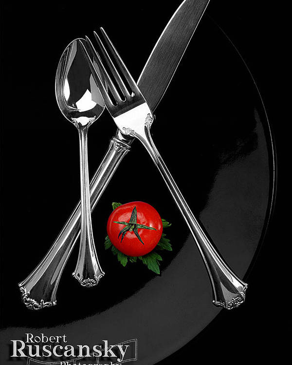 Product Sliverware Poster featuring the photograph Silverware by Robert Ruscansky
