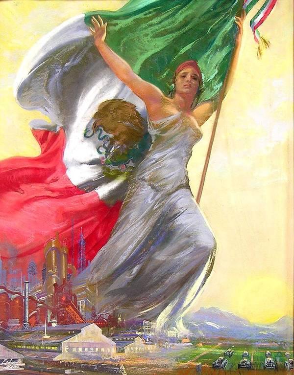 Mexico Poster featuring the painting Simepre Mas Que Ayer by Eduardo Catano