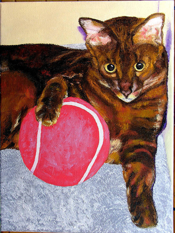 Cat Poster featuring the painting Simon by Stan Hamilton