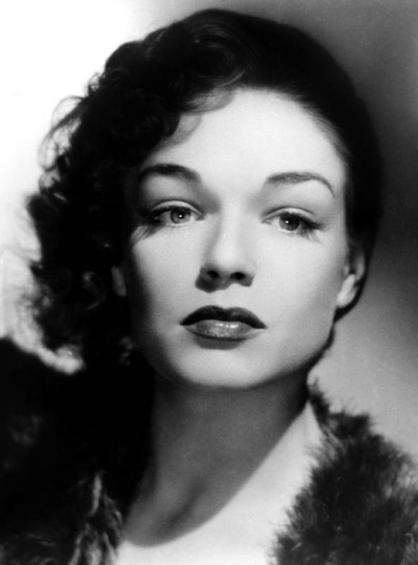 1940s Portraits Poster featuring the photograph Simone Signoret, C. 1940s by Everett