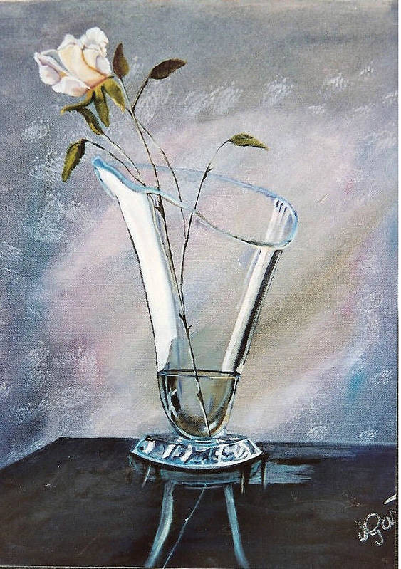 Vase Poster featuring the painting Simple Elegance by Joan Gossett