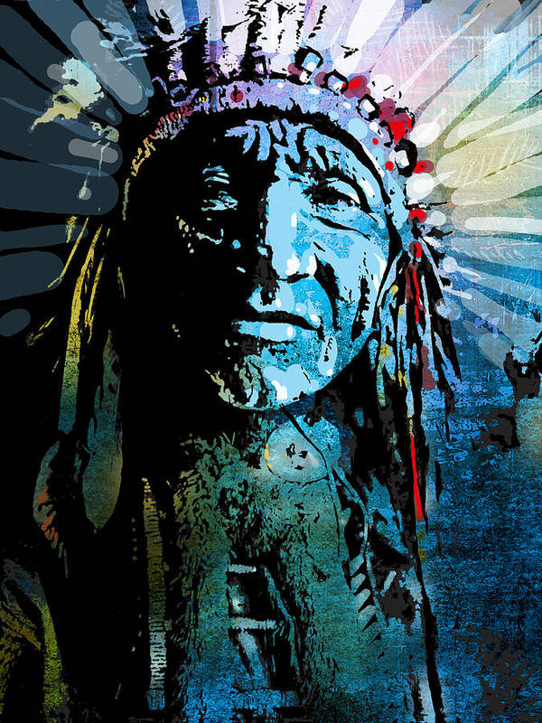 Native American Poster featuring the painting Sioux Chief by Paul Sachtleben