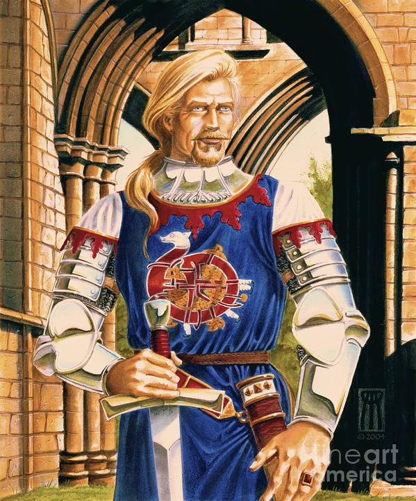 Swords Poster featuring the painting Sir Dinadan by Melissa A Benson