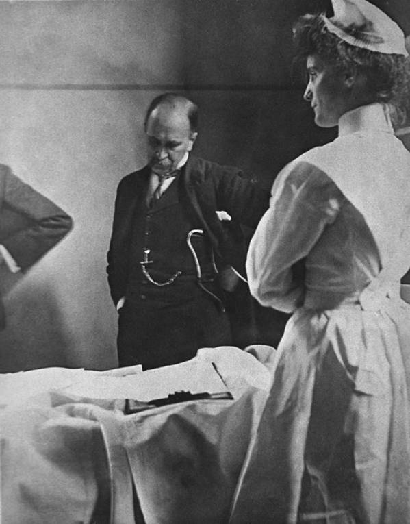 History Poster featuring the photograph Sir William Osler 1849 � 1919, Reading by Everett