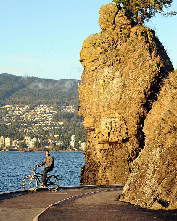 Stanley Park Poster featuring the photograph Siwash Rock Stanley Park II by Jason Evans