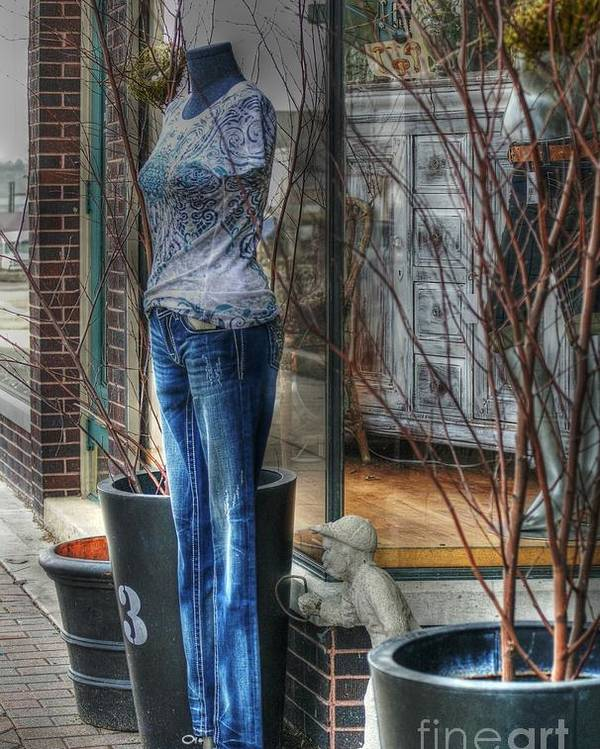 Mannequin Poster featuring the photograph Size Six by David Bearden