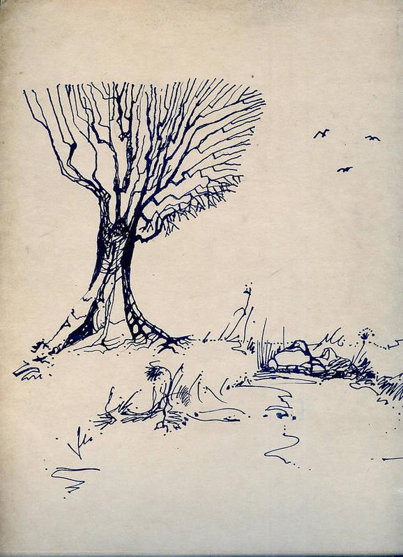 Joan Kamaru Poster featuring the drawing Sketch 2 by Joan Kamaru