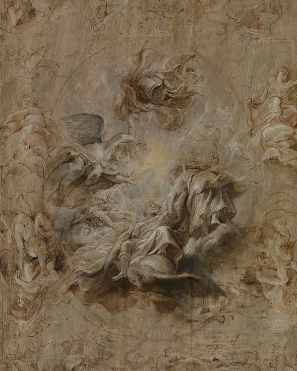 Peter Paul Rubens Poster featuring the painting Sketch For The Banqueting House Ceiling by Peter Paul Rubens
