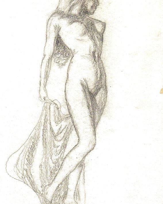 Nudes Poster featuring the painting Sketch Model 9 by Benito Alonso