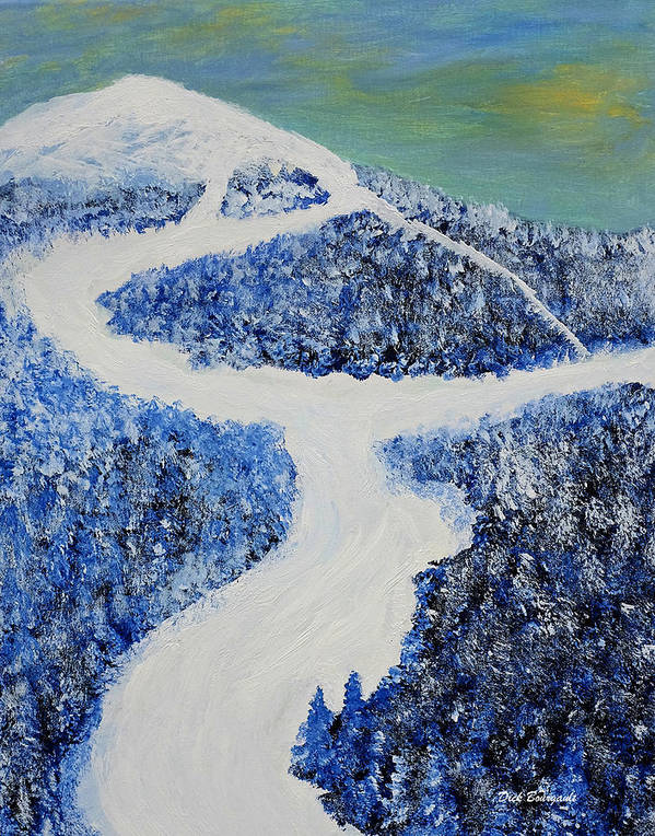 Mountain Poster featuring the painting Ski Dream by Dick Bourgault