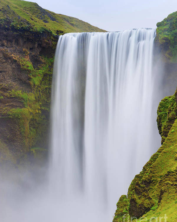 Attraction Poster featuring the photograph Skogafoss - Iceland by Henk Meijer Photography