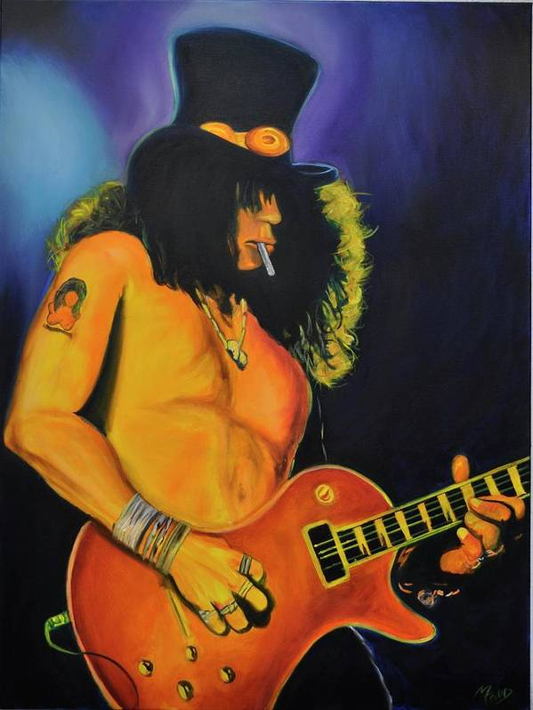 Guitar Poster featuring the painting Slash And Burn by Mitchell Todd