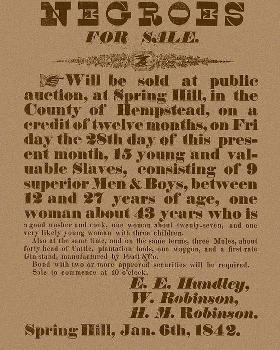 Slavery Poster featuring the mixed media Slave Auction by War Is Hell Store