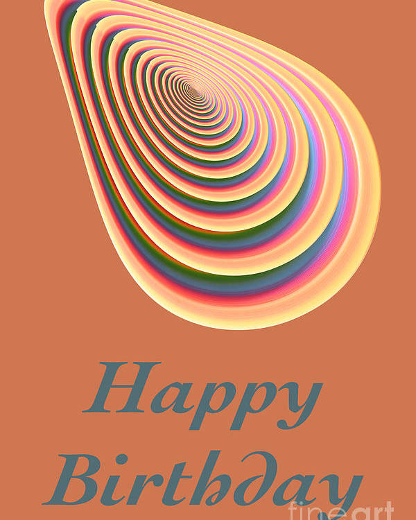 Photography Poster featuring the digital art Slinky - Happy Birthday Card 2 by Wendy Wilton
