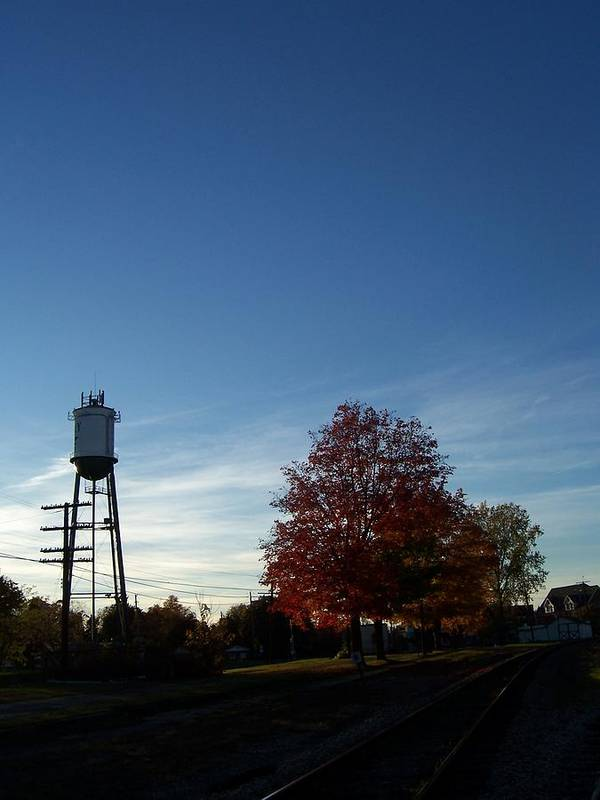 Autumn Poster featuring the photograph Small Town Autumn by Stacey Highfield