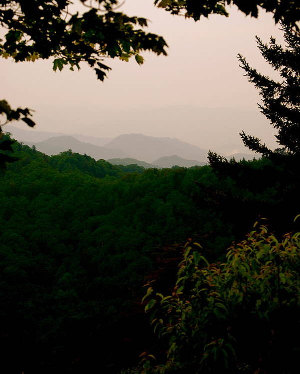 Smokey Poster featuring the photograph Smokey Mountains At New Found Gap by Kimberly Camacho