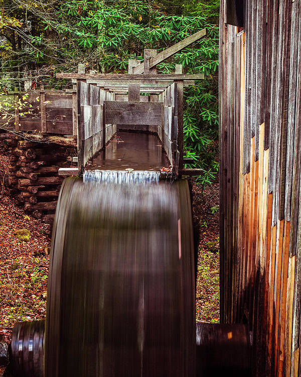 Mill Poster featuring the photograph Smoky Mountain Mill by Andrew Soundarajan