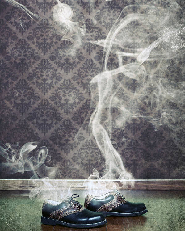 Shoe Poster featuring the photograph Smoky Shoes by Joana Kruse