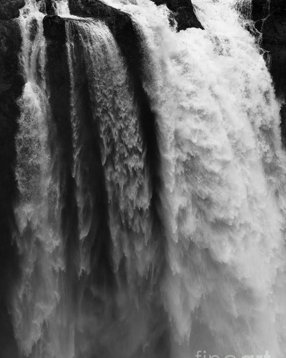 Seattle Poster featuring the photograph Snoqualmie Falls by Sandra McNair