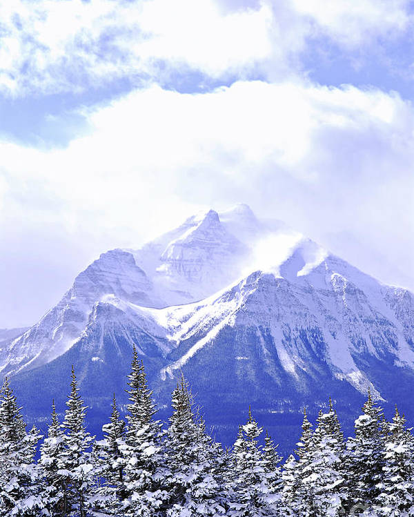 Mountain Poster featuring the photograph Snowy Mountain by Elena Elisseeva