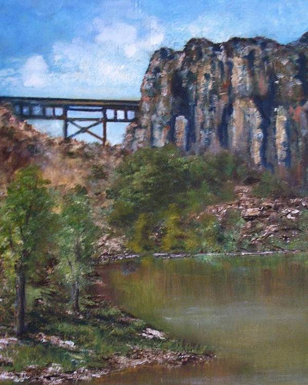 Landscape Poster featuring the painting S.o.b Caynon by Darla Joy Johnson
