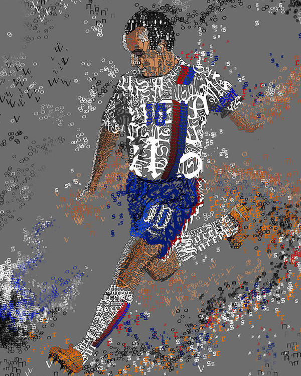 Soccer Poster featuring the painting Soccer by Danielle Kasony