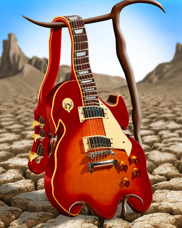 Rock And Roll Poster featuring the photograph Soft Guitar by Mike McGlothlen