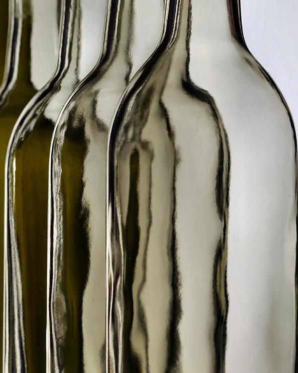 Bottle Poster featuring the photograph Somber Bottles by Joe Bonita