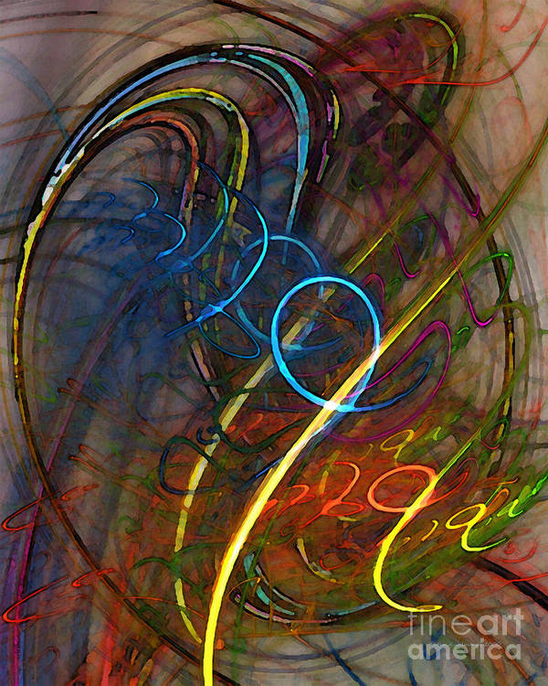 Abstract Poster featuring the digital art Some Critical Remarks Abstract Art by Karin Kuhlmann