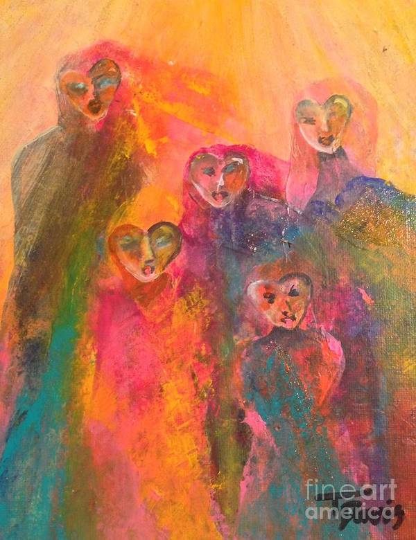 Figurative Art Poster featuring the painting Song Of Our Heart by Terri Davis