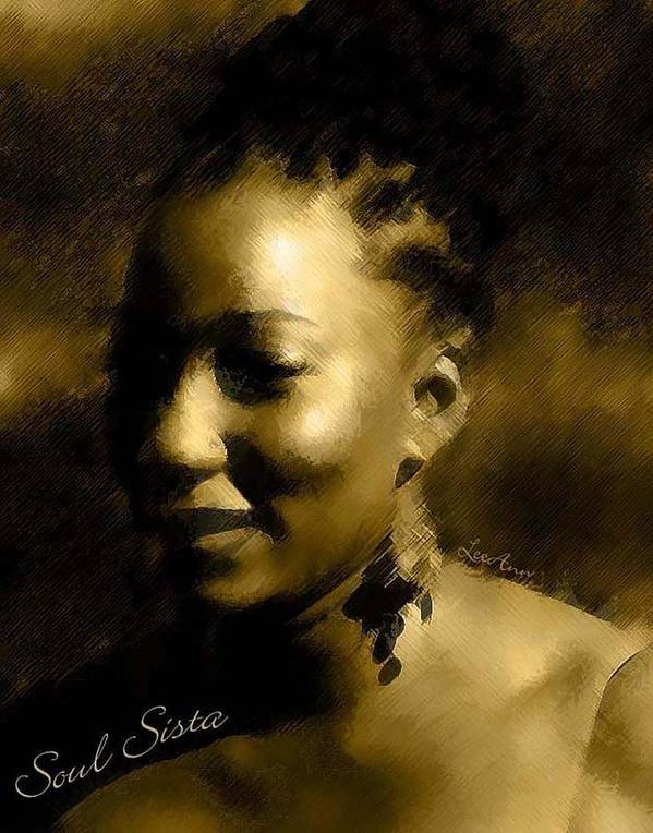 Portrait Poster featuring the photograph Soul Sista by LeeAnn Alexander