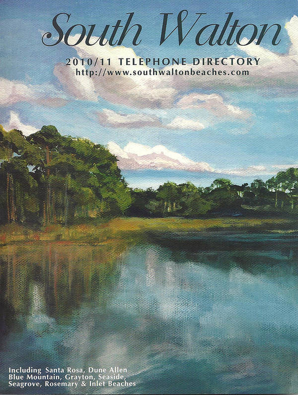 South Walton Telephone Directory Poster featuring the painting South Walton Telephone Directory Cover Art by Racquel Morgan