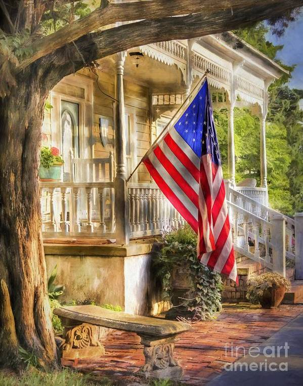 American Flag Poster featuring the photograph Southern Charm by Benanne Stiens