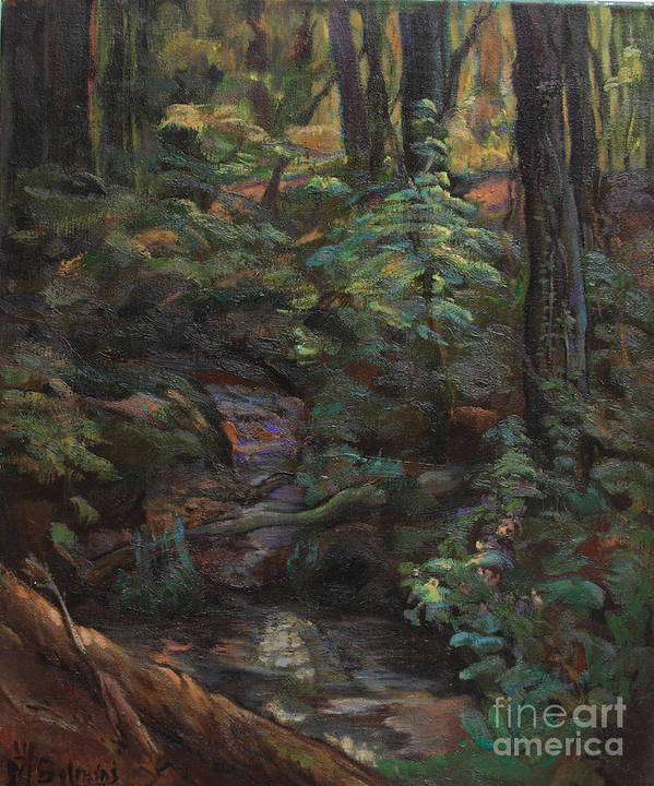 Oil Paintings Poster featuring the painting Southern Jungle by Maris Salmins