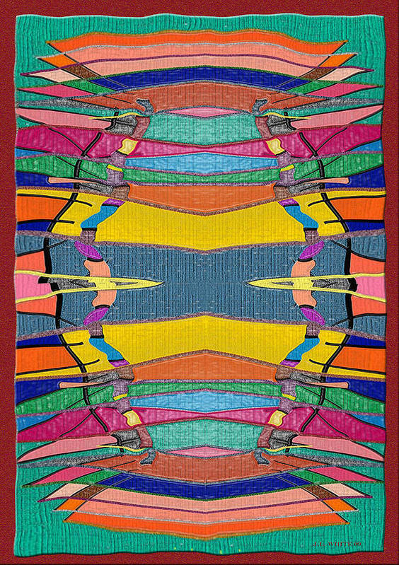 Multicolor Rug Poster featuring the digital art Southwestern Rug by Jerry White