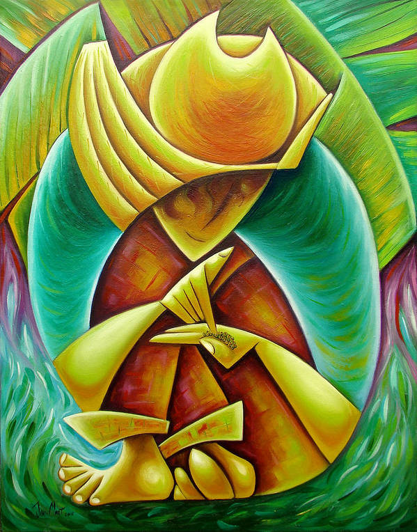 Poster featuring the painting Sower by Javier Martinez