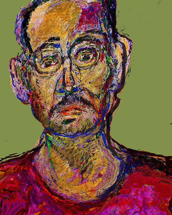 Self Portrait Poster featuring the painting Sp200508 by Noredin Morgan