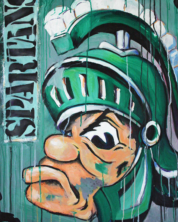 Business Poster featuring the painting Spartans by Julia Pappas