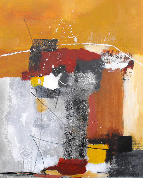 Abstract Poster featuring the painting Special Circumstances by Ruth Palmer