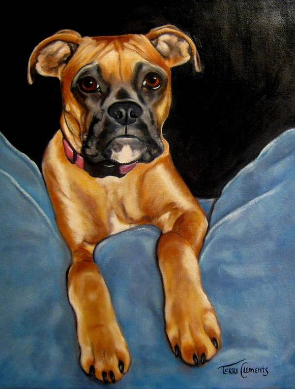 Dog Poster featuring the painting sPepper by Terri Clements