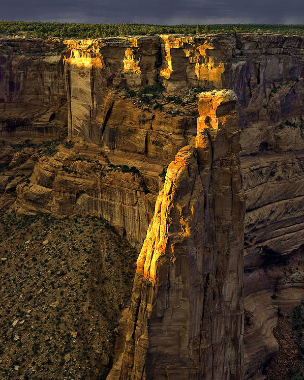 Canyon De Chelly Poster featuring the photograph Spider Woman Rock One by Paul Basile