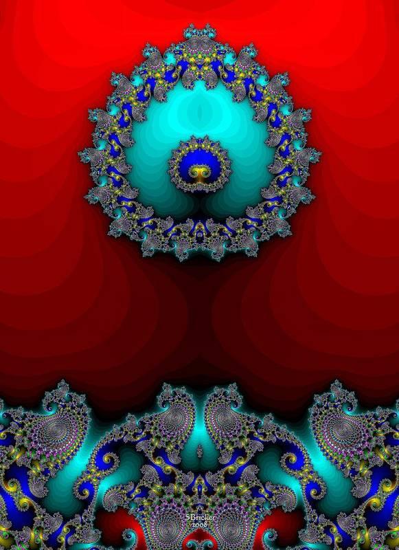 Fractal Poster featuring the digital art Spore by Scott Bricker