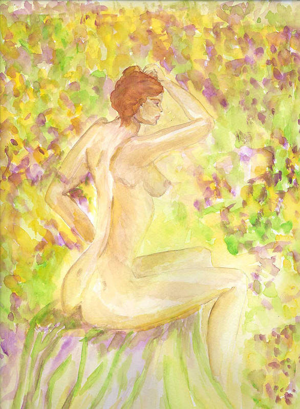 Woman Poster featuring the painting Spring Has Sprung by Donna Blackhall