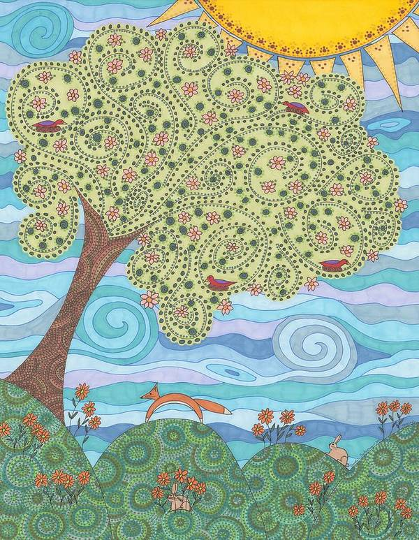 Spring Poster featuring the drawing Spring by Pamela Schiermeyer