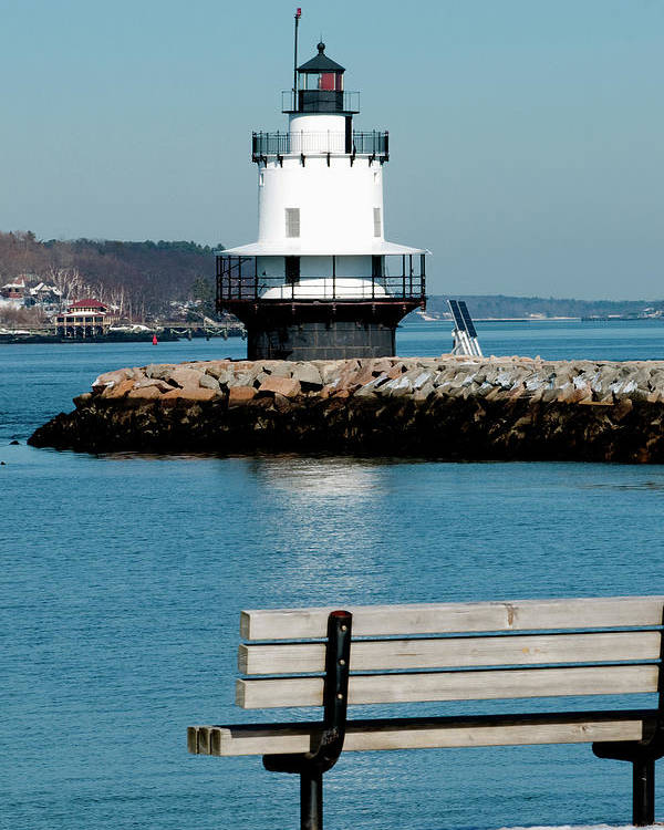 Coast Poster featuring the photograph Spring Point Ledge Lighthouse by Greg Fortier