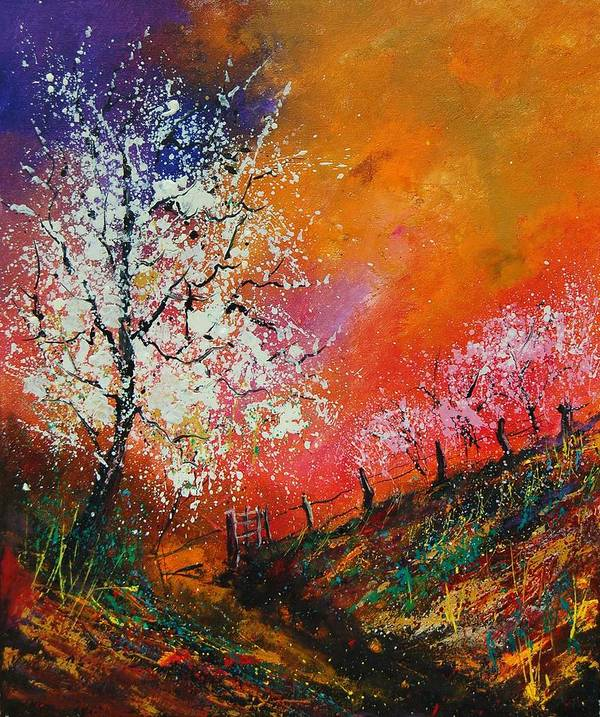 Spring Poster featuring the painting Spring Today by Pol Ledent