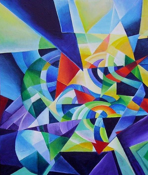Spring Antonio Vivaldi Acrylic Abstract Music Four Seasons Poster featuring the painting Spring by Wolfgang Schweizer
