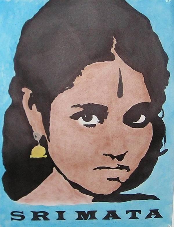 Sri Mata Poster featuring the drawing Sri Mata by Kenneth Regan