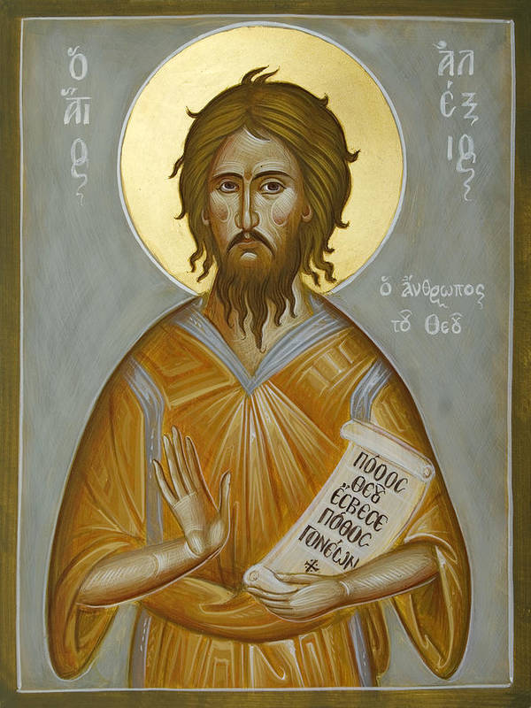 Icon Poster featuring the painting St Alexios The Man Of God by Julia Bridget Hayes